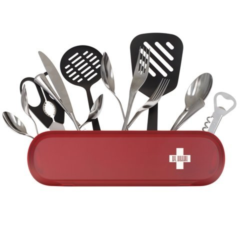 Swiss Army-Style Kitchen Utensil Holder & Desk Organizer