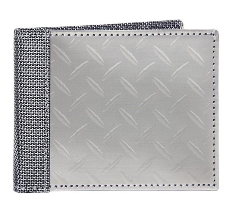 Texture Herringbone Bill Fold Wallet