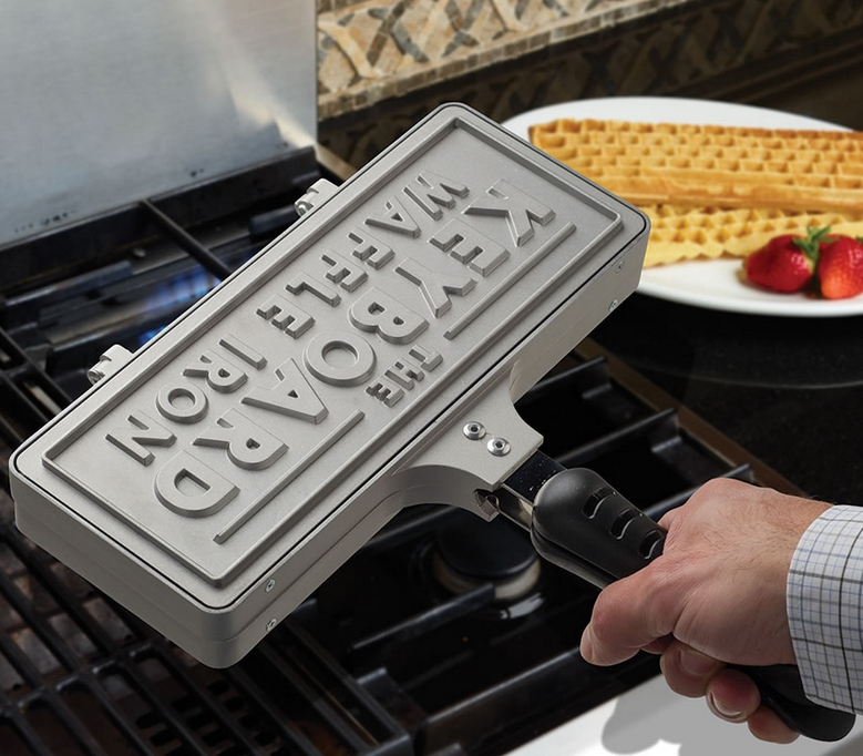 The Eat Your Words Waffle Iron.