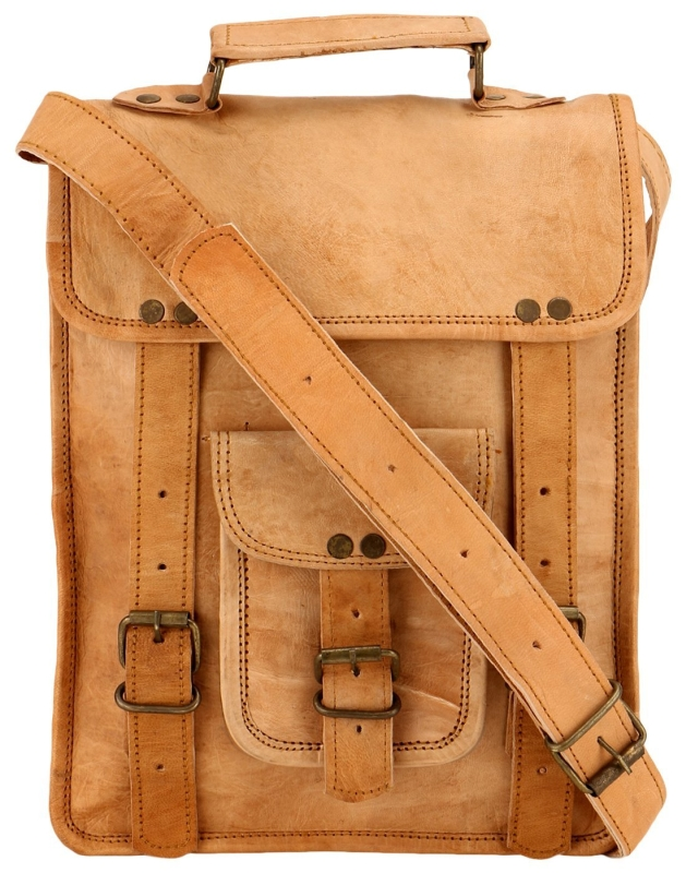 Vintage Fresh Leather Laptop Backpack Messenger Bag