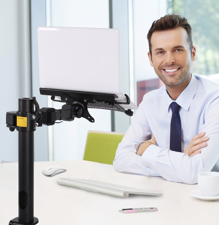 2-in-1 Laptop Desk Monitor Stand Mounts