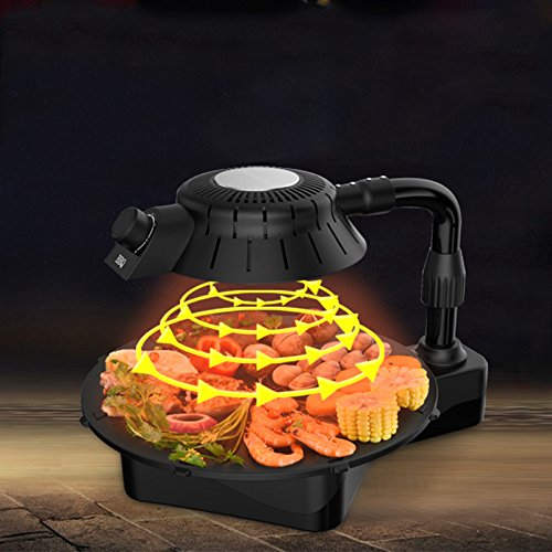 3D smokeless electric grill infrared heat grill for home BBQ