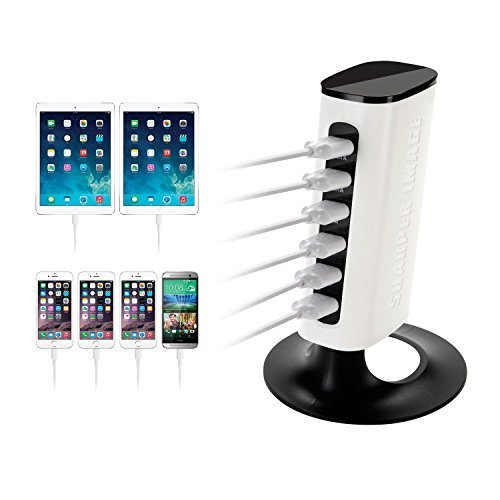 Charge Tower 6-Port USB Desktop Charger