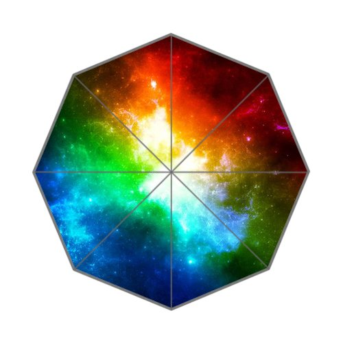 Colorful nebula rainbow galaxy Auto Foldable Umbrella