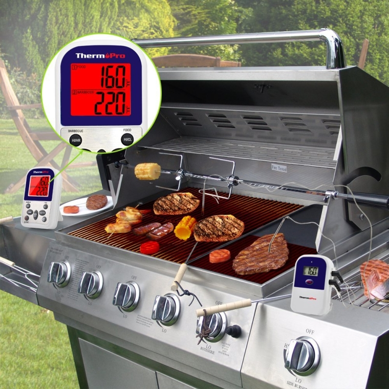Digital Wireless Remote Kitchen Cooking Food Meat Thermometer with Timer