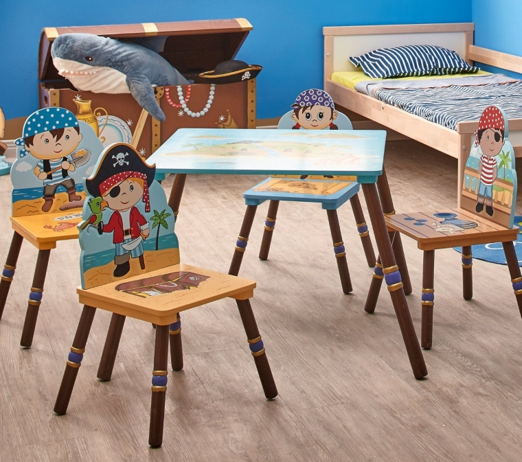 Fantasy Fields Pirates Island Table and Set of 2 Chairs