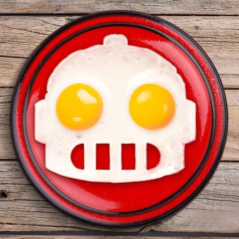 Funny Side Up Robot Egg Mold