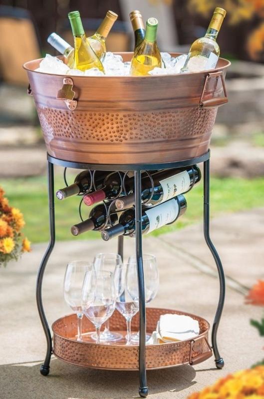 Galvanized Copper Party Bucket