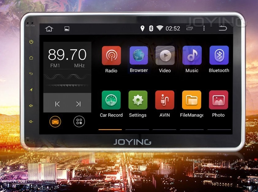 JOYING 10.1 Inch Super Screen Quad Core Android 4.4 Head Unit 1 din Car StereoRadio