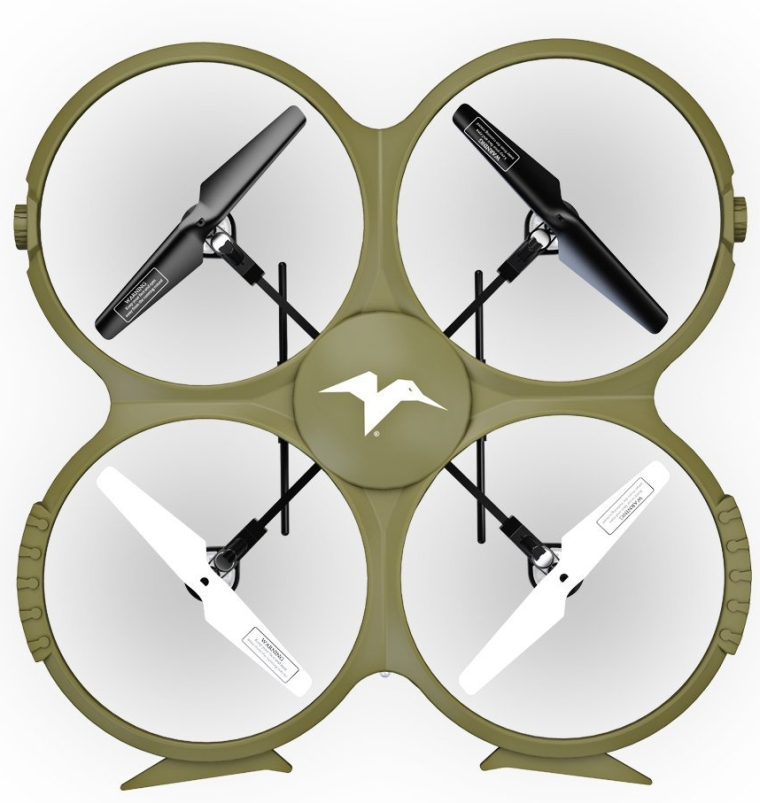 Kolibri Discovery Delta-Recon WiFi U818A Quadcopter Drone Tactical Edition Military Matte Green UDI RC