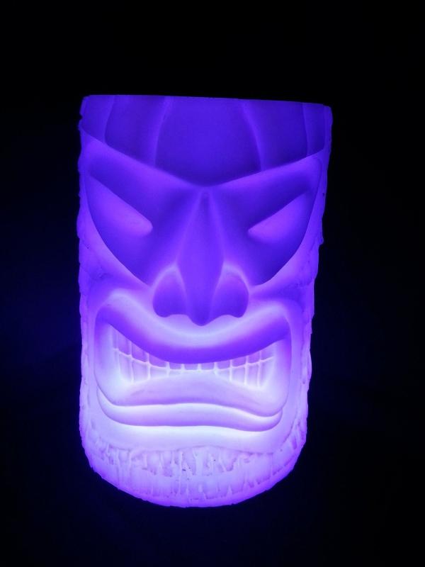LED Angry Tiki Planter
