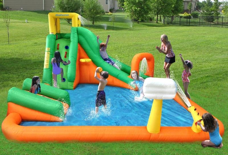 Magic Time Titan Falls Inflatable Water Slide and Splash Pool