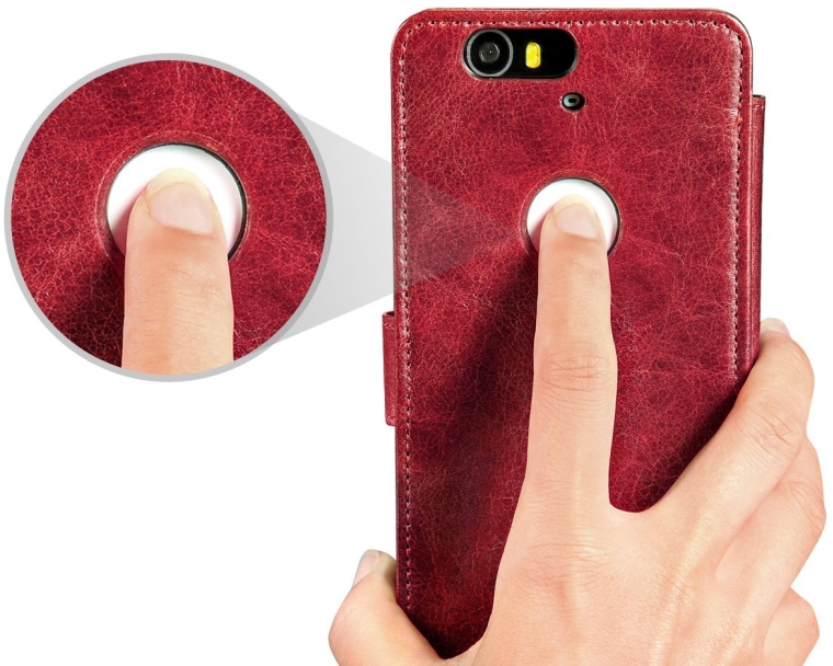 Nexus 6P Case, Benuo [Built-in Slots Series] [Magnetic Snap] Classic Genuine Leather Case