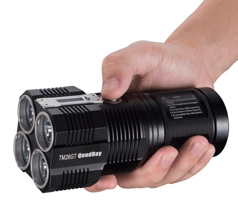 Nitecore TM26GT 3500 Lumens 124000cd 4CREE XP-L HI V3 LED Flashlight