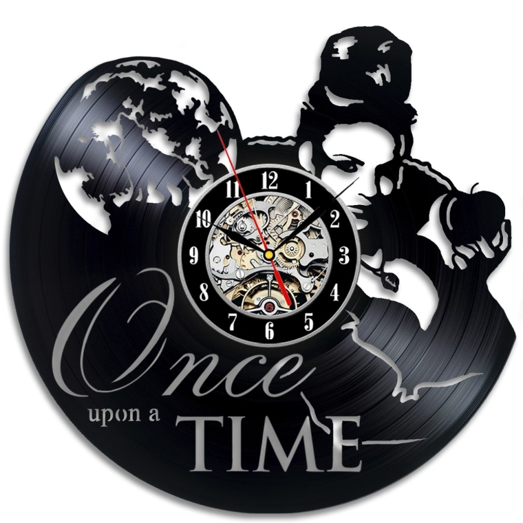 Once Upon A Time Vinyl Record Clock Art Home Decor Wall Design
