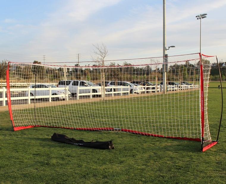 PowerNet Soccer Goal 18.5ft x 6.5ft Portable Bow Style Net