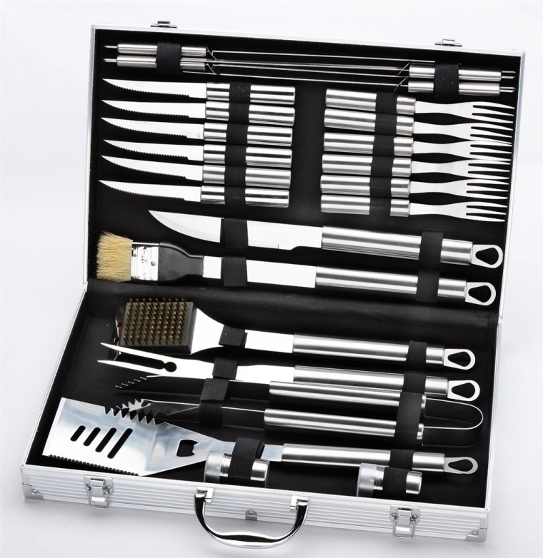 Premium 24 Pieces Stainless Steel BBQ Set