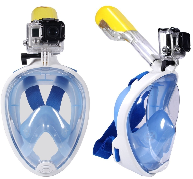 Royal Journey Full Face Free Breathing Design Snorkel Mask