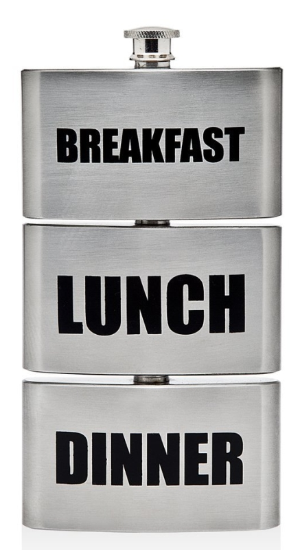 Triple Breakfast Lunch Dinner Drinking Flask