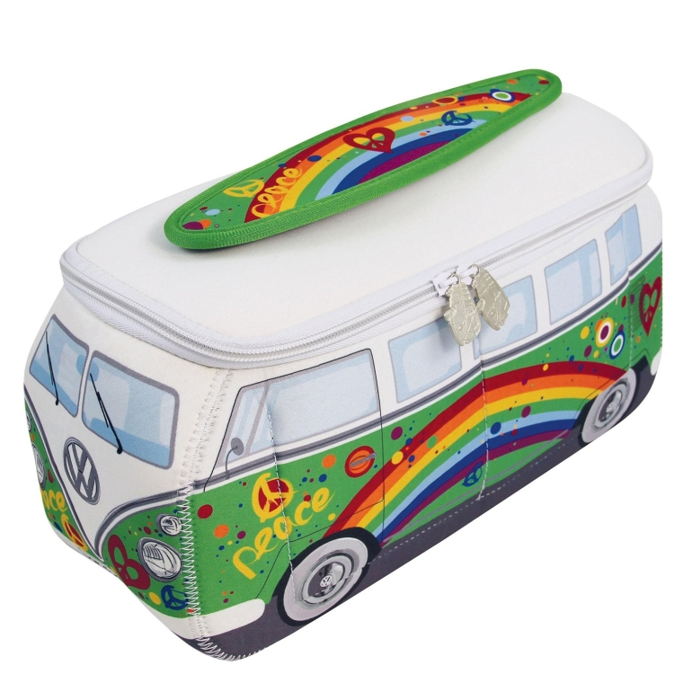 Volkswagen Bus Neoprene Toiletry Bag-Green