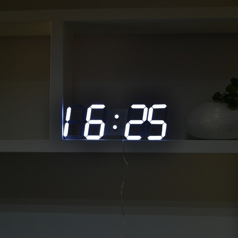 3d large alarm led digital wall clock remote control Digital led wall clock