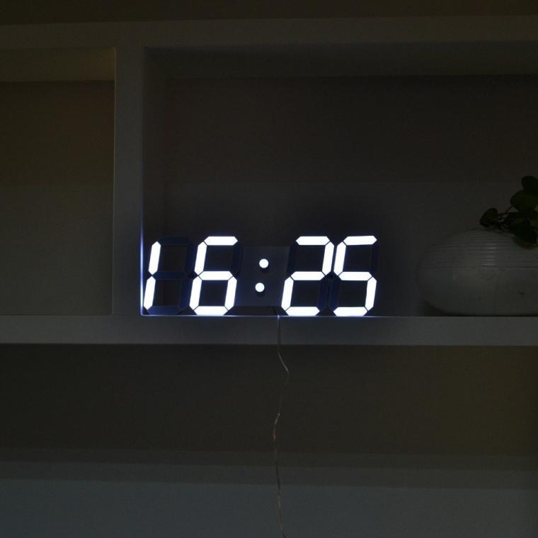 3D Large Alarm LED Digital Wall Clock Remote Control