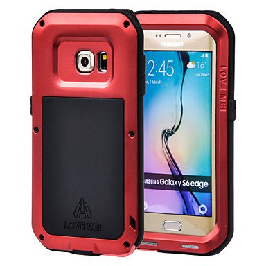 Aluminum Waterproof Shockproof Gorilla Glass Case for Samsung Galaxy S6 edge