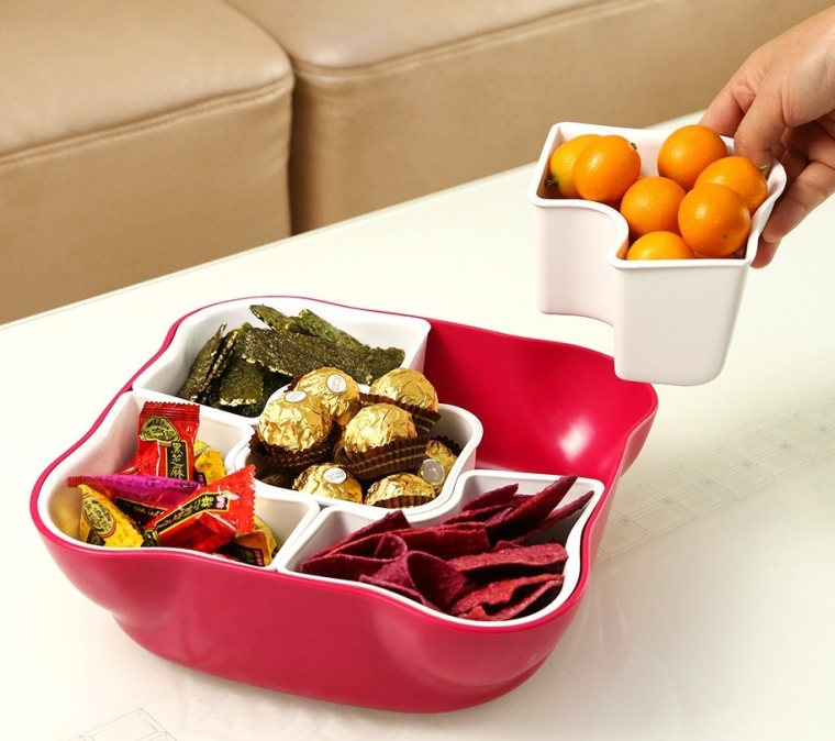 Creative Multi Sectional Snack Serving Tray Set