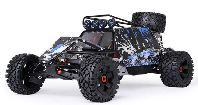 Desert Chariot with 30.5CC Engine Metal Roll Cage Spare tire LED Light