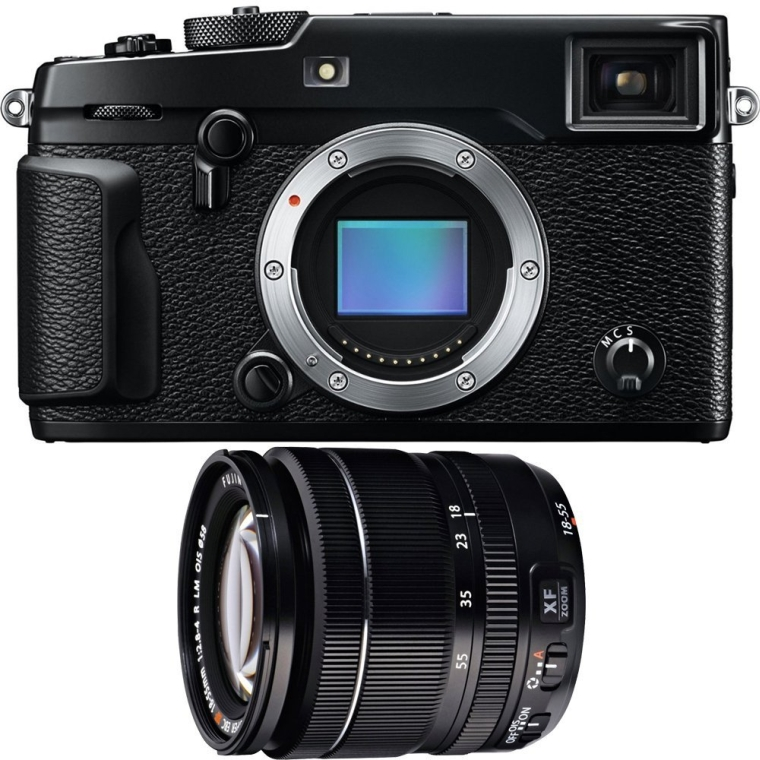 Fujifilm X-Pro 2 Mirrorless Weather Resistant X-Trans CMOS III Black Digital Camera w 18-55mm F 2.8-4.0 R LM OIS X-Mount Zoom Lens Bundle