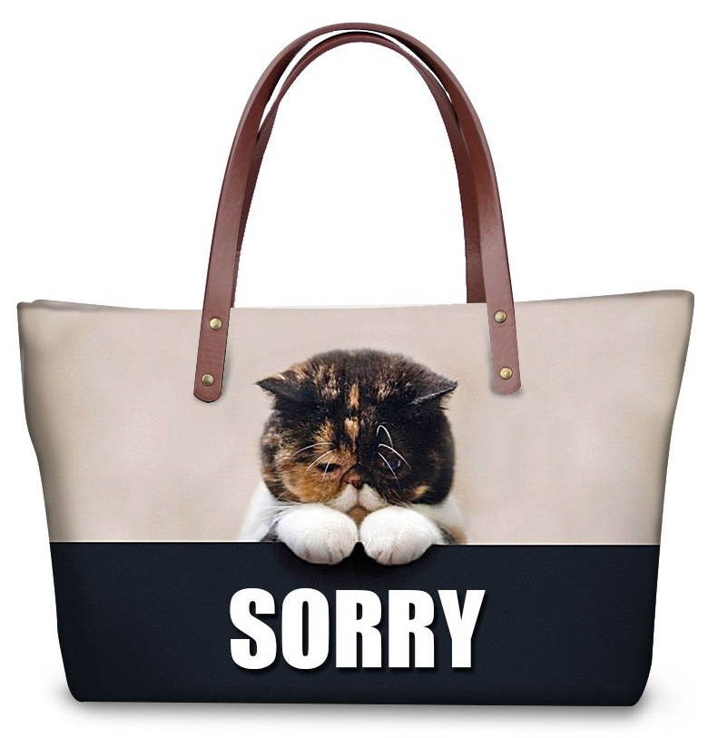 Funny Animal Shoulder Bags Tote Bags