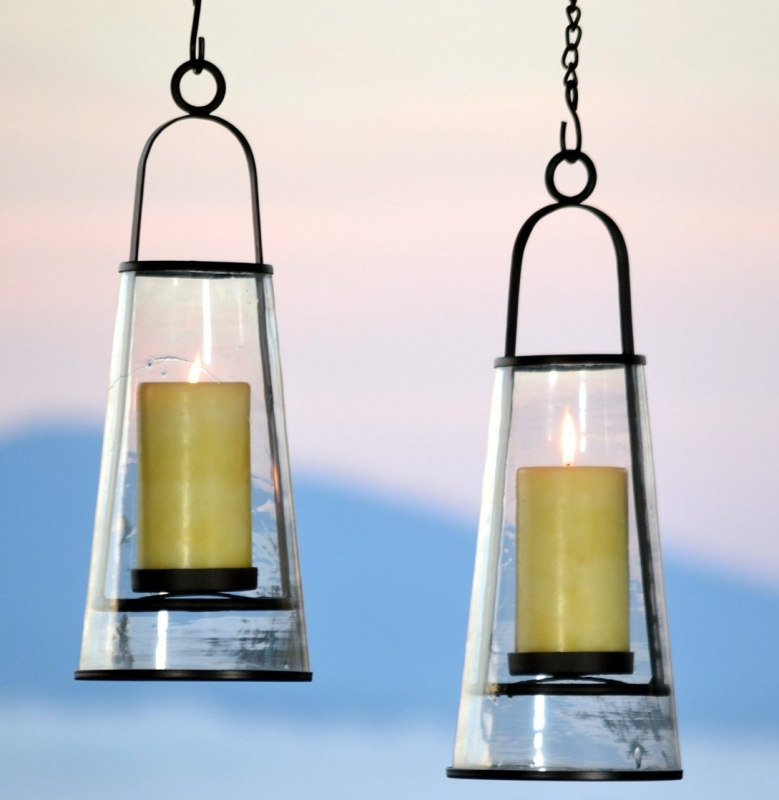 Hanging Patio Deck Candle Holder Lantern