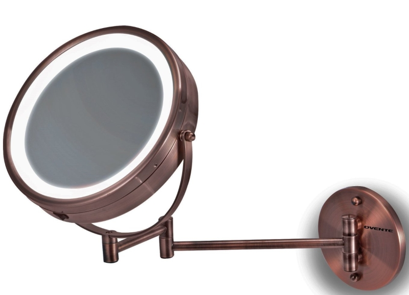 Vanity Lighted Mirror Wall Mount : LED Surround Lighted Wall Mount Vanity Mirror
