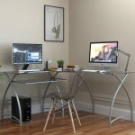 Living Stillman L Shaped Desk in Silver
