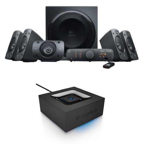 Logitech Z906 Surround Sound Speaker System with Bluetooth Audio Adapter