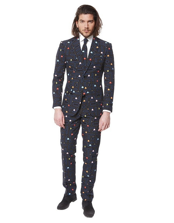 Mens Pac Man Suit With Tie