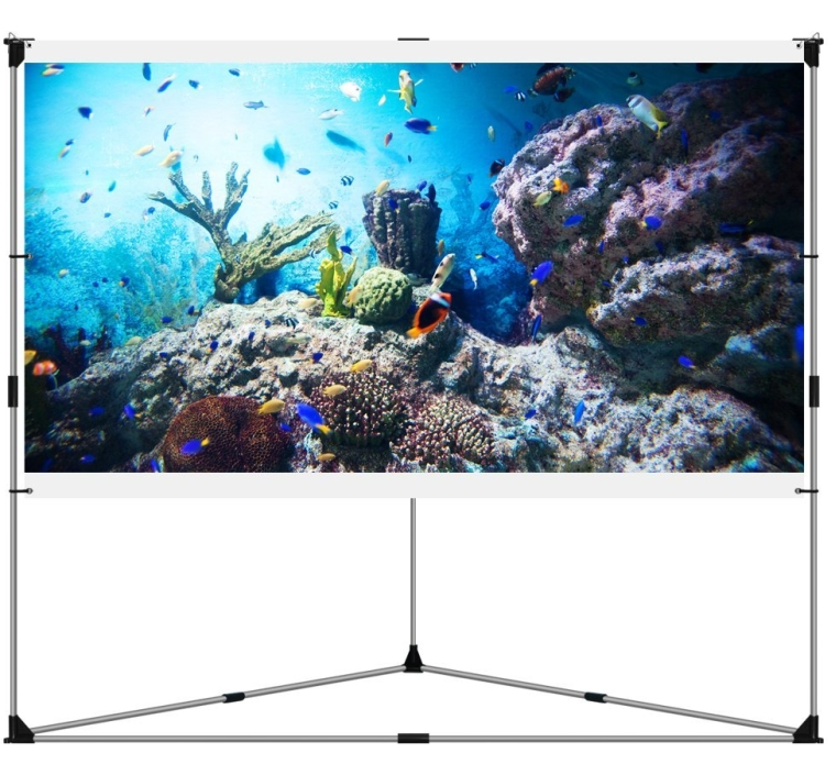 Portable Outdoor Projection Screen + Setup Stand