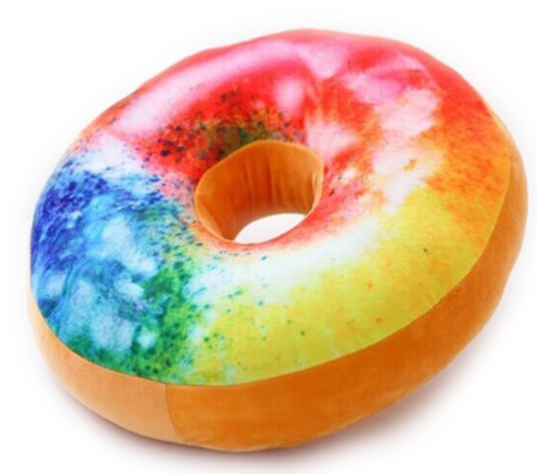 Rainbow Doughnuts Microbead Pillow