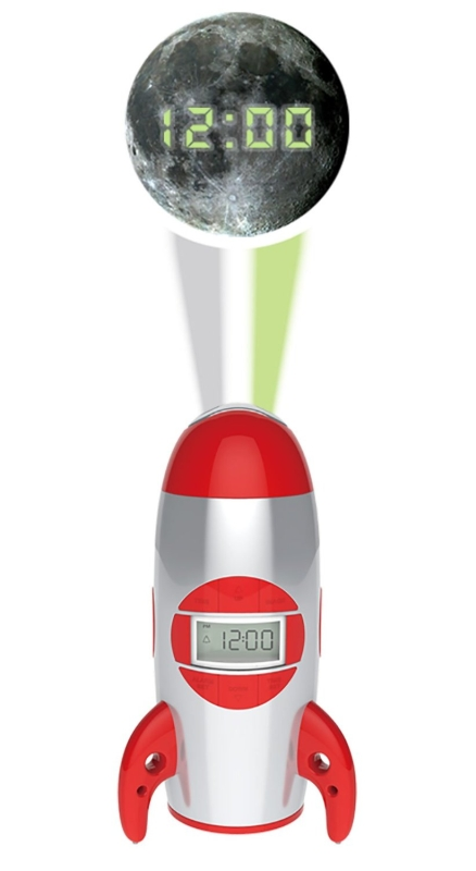 Rocket Ship Projection Alarm Clock