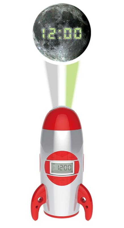 rocket ship projection alarm clock 7 gadgets. Black Bedroom Furniture Sets. Home Design Ideas