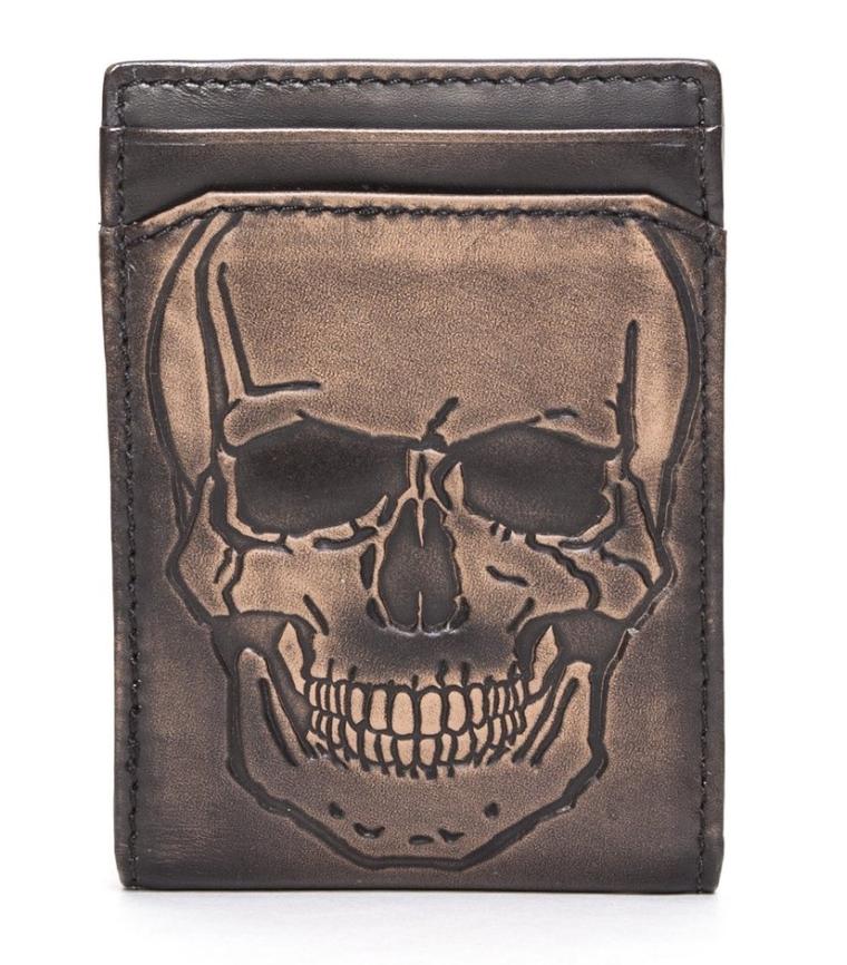 SKULL ID Bifold Front Pocket Wallet