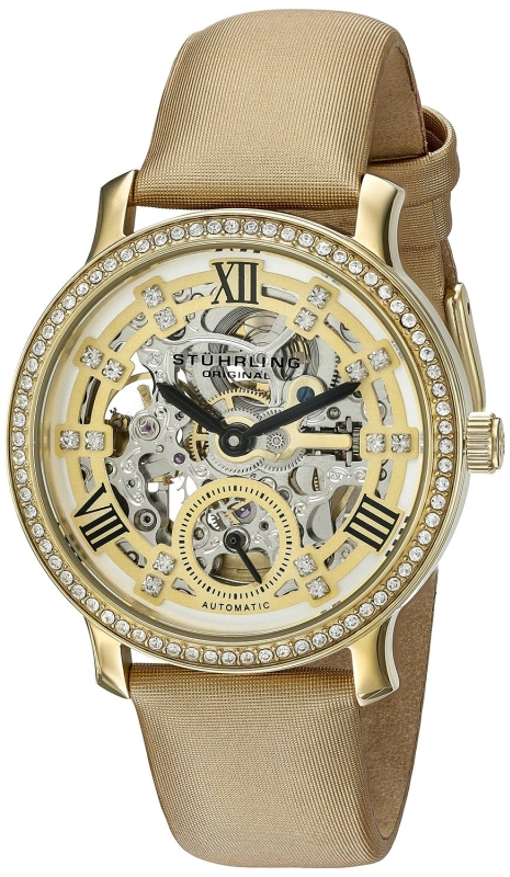 Stuhrling Original Women's 802.02 Legacy Analog Display Automatic Self Wind Beige Watch