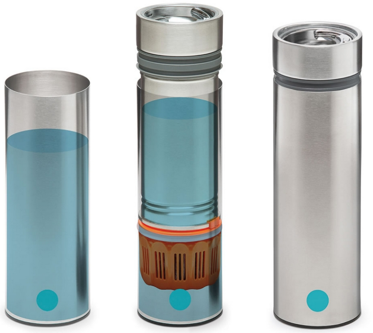 The Traveler's Water Purifying Bottle