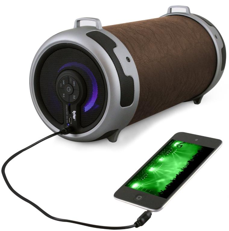 Tyler Portable Wireless Bluetooth Stereo Cylinder Speaker