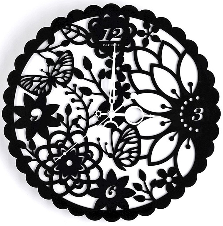 3D Frameless Art Creative Decorative Laser Engraving Ultra Quiet Design Wall Clock