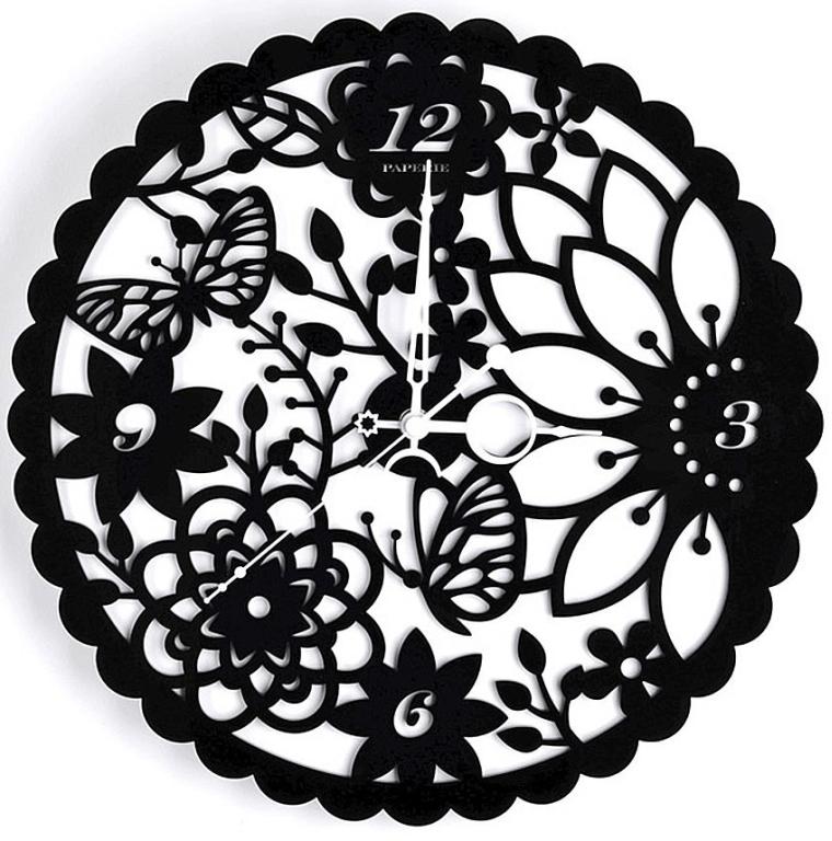 3D Frameless Art Creative Decorative Laser Engraving Ultra Quiet Design Wall Clock