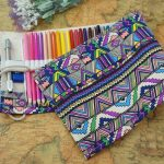 CreooGo 2PcsPack Canvas Pencil Wrap