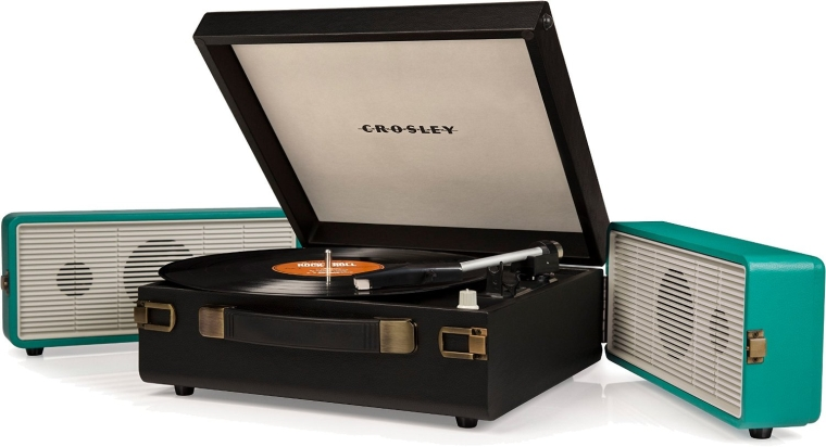 Crosley CR6230A-TU Snap Portable USB Turntable with Software for Ripping & Editing Audio