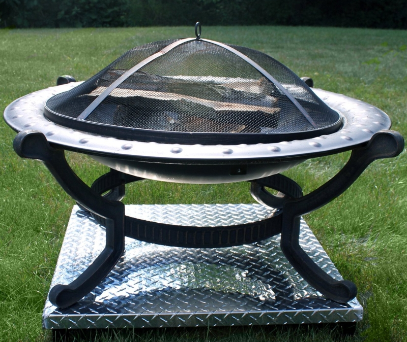 Deck Defender And Grass Guard Fire Pit Heat Shield
