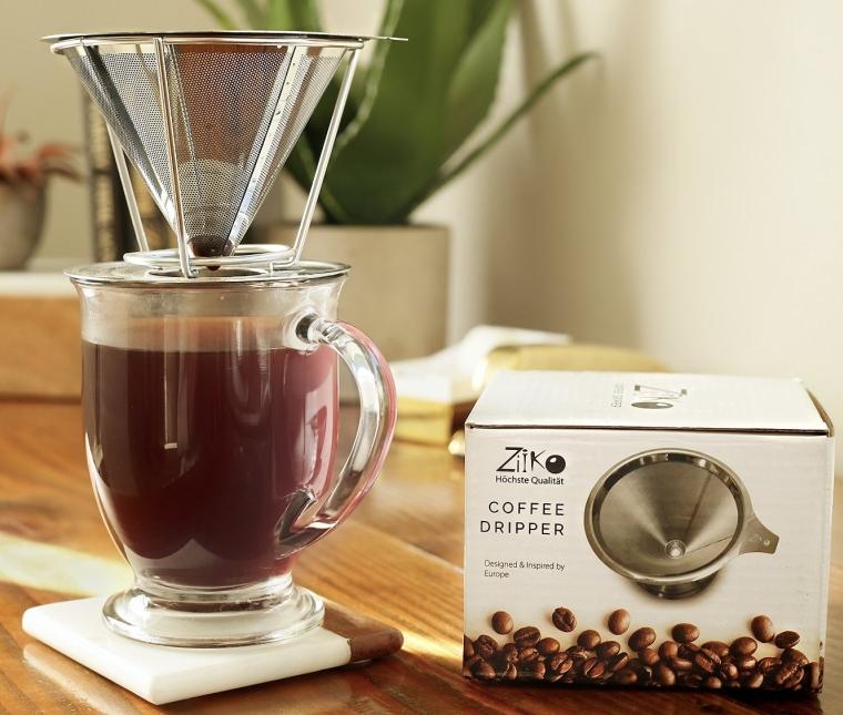 European Stainless Steel Single Cup Coffee Dripper